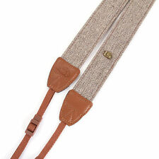 Camera Shoulder Neck Belt Cotton Strap Brown For All DSLR Canon Sony Nikon Leica