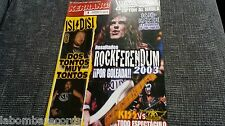 REVISTA MAGAZINE KERRANG 123 KISS AERO ICED EARTH OZZY JUDAS PRIEST PEARL JAM
