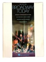 BROADWAY TODAY Songbook-42 Songs from 15 Hit Musicals-Piano/Vocal/Guitar-Hal Leo