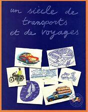 BLOC 2002 N°6 TIMBRES UN SIÈCLE DE TRANSPORT DANS SON FEUILLET D'ORIGINE NEUF