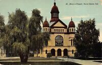 Postcard St. Mary's Chapel in Notre Dame, Indiana~124403