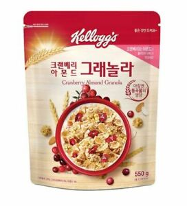 <kellogg's>Cranberry Almond Granola Cereal 550g  Korea food