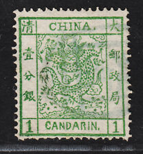Qing Dynasty China 1878 Large Dragon Issue Stamp Thin Paper Used 1C