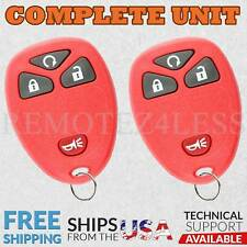 2 For 2007 2008 2009 2010 2011 2012 2013 2014 Chevrolet Equinox Remote Rs Red