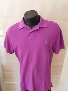 Ralph Lauren Polo Shirt Purple Large Custom Fit