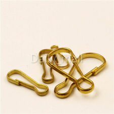 Wholesale Brass S-Ring Curtain Clasp Split Key Ring Hook Chain Loop