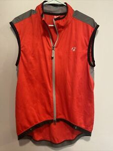 Bontrager Red Active Sport Sleeveless Full Zip Cycling Jersey shirt, Size XL