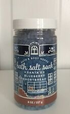 1 Bath & Body Works Santa's Blueberry Shortbread Bath Salt Soak ~ 8 Oz ~ New