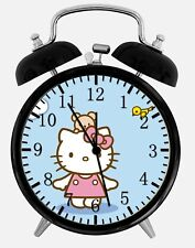 "Hello Kitty Birds Alarm Desk Clock 3.75"" Home or Office Decor X14 Nice For Gift"