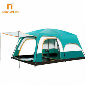 Hot Sale 8-12 person Luxury Large Dome Family Waterproof Folding three rooms Out
