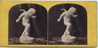 Cupido L'Amour Foto Da Scultura Expo Parigi 1867? Stereo Vintage Albumina