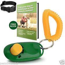 Dog Training Clicker, Collar and a Basic Book to Train Your Dog in Just 6 Days