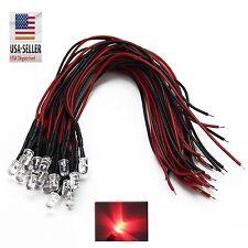 100x Pre wired 6v 3mm Red LED Prewired 6 volt DC LED Light RC Prop 5v 4v 3v USA