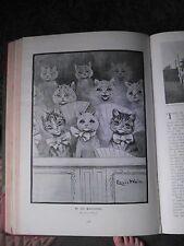 Louis Wain Artist Cats Cat Pantomime Rare Old Victorian Antique Plate Print 1898