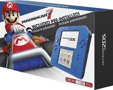 New Nintendo 2DS Blue + Mario Kart 7 + 28 games/gifts bundle Zelda Pokemon