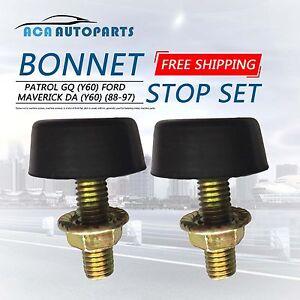 Bonnet Stop Set Bumper Rubber for Nissan Patrol GQ Y60 for Ford Maverick 88-97