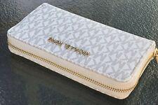 Michael Kors Jet Set Travel Large Flat Multifunction Phone Case Wallet Vanilla