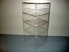 "Acrylic Lucite Countertop Display Case ShowCase Box Cabinet 8"" x 8"" x 19"""