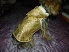 magnifique manteau chien couleur or dos 20cm bb york ex