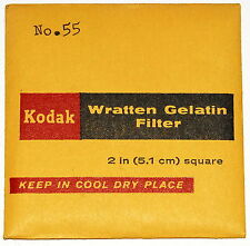 "Kodak Wratten 55 Gelatin 2"" x 2"" (50mm) Square Filter NEW UNOPENED!!!"