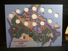 CANADA : 1999 END of the MILLENNIUM  25 CENT & $2 NUNAVUT   HOLDER  (#2)