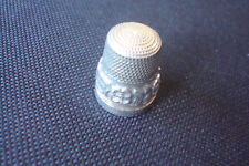 Thimble, hallmarked, flowers Sterling Silver Engraved