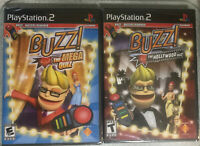 Buzz The Mega Quiz/hollywood quiz (Sony PlayStation 2, 2007) new-sealed-ps2