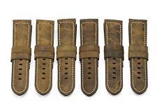 24mm Brown Vintage Genuine Assolutamente Leather Watch Strap For Panerai 44mm