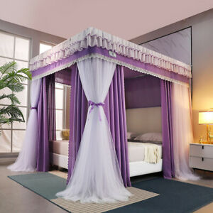 Bed curtain Double pole bunk bed curtain mosquito net Shading warm bed curtains