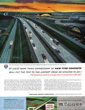 Bill Fleming Mark Twain Expressway LAMBERT-ST LOUIS AIRPORT Cement 1960 Print Ad