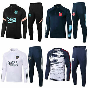 Kids Boys Football Survetement Tracksuit Set Sportswear Outfits Top & Bottoms