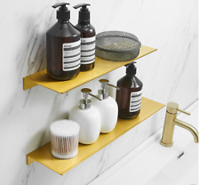 Bathroom Brushed Gold Shower Caddy Space Aluminum Bath Caddies Storage Shelf