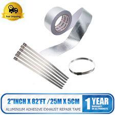 Heat Shield Wrap Tape for Car intake pipe Aluminium Reflective insulation+6strip