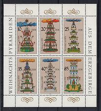 B I ) Germany East  DDR 1986  Christmas, Pyramids, Sheetlet, MNH