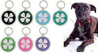 Pet Tag Custom Engraving 4 Leaf Clover  Dog Tags Charm Identification Pet Tags