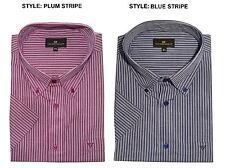Camicie casual e maglie da uomo a righe in cotone con button down