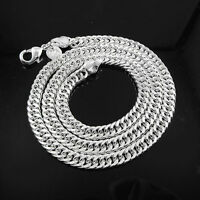 Men's Womens 925 Sterling Silver 5mm Cuban Curb Link Chain Necklace 50cm