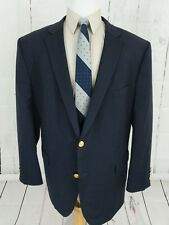 Saddlebred Mens Blazer Sport Coat 54R Big Tall Gold 2 Button Vented Wool Blend
