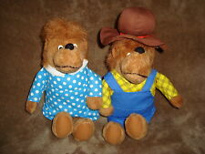 "Berenstain Bears Papa and Mama Bear Lot Plush 12"" tall"