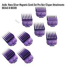 ANDIS ATTACHMENT COMBS MAGNETIC 9 SET SM~LG NANO-SILVER FADE & MASTER CLIPPER