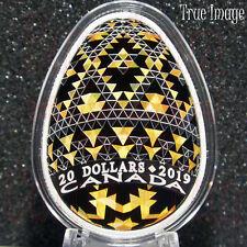 2019–Vegreville Ukrainian Pysanka Писанка–$20 Silver Easter Egg Shaped Coin