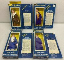 1974 Lot of 4 Hero's Of the American Revolution Dolls Montgomery Wards w/ Boxes