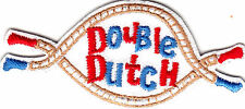 """""""DOUBLE DUTCH"""" - Iron On Embroidered Patch /Games - Fun - Children, Rope Jumping"""