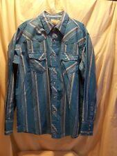 wrangler wrancher pearl  button up shirt XL
