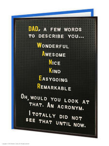 Funny Dad Birthday Card RUDE Witty Comedy Humour Cheeky Joke Daddy Father