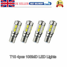 4pcs T10 501 W5W CAR SIDE LIGHT ERROR FREE CANBUS 10SMD LED XENON HID BULBS