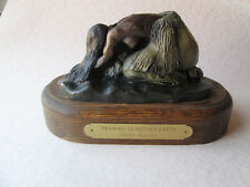 PRAYING TO MOTHER EARTH by Snoma Alquaia BRONZE SCULPTURE Native American Art