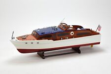 """Chris Craft Catalina Handcrafted Wooden Classic Boat Model 31.5"""" RC Ready"""