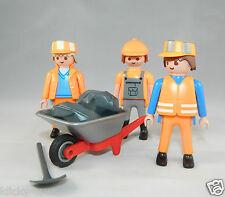 Playmobil City-Life Bau 3 xBauarbeiter mit Schubkarre zu 3965 4279 5129 #37054
