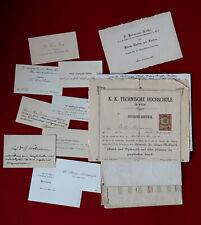 1901-1923 WIEN Autographen NATURWISSENSCHAFTLER - Relativitätstheorie